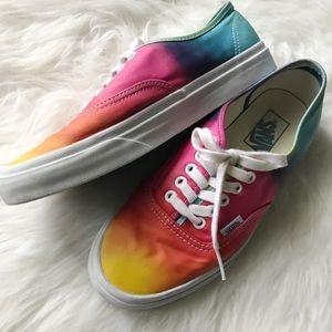 Tie dyed colorful Vans sneakers